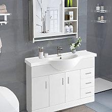 1200mm Gloss White Floor Standing Basin Cabinet