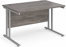 1200mm Straight Office Desk Grey Oak