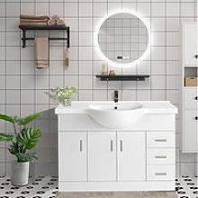 1200mm White Basin Vanity Unit Sink Cabinet
