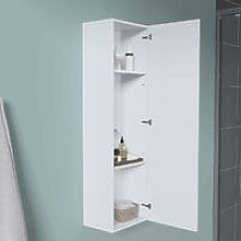 1200mm White Wall Mounted High Cabinet Tall
