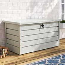 120CM Garden Storage Box Chest Lockable Tool
