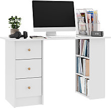 120cm Office Computer Desk with Drawers Writing PC
