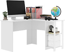 120CM White Home Office Computer PC Desk Writing