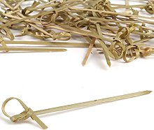 120x Small 9cm Bamboo Food Skewers - BBQ