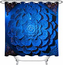 123456789 Royal Blue Mandala Relief Waterproof