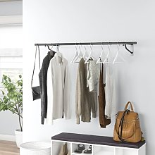 124 cm Wide Wall Mountable Garment Wardrobe Rail