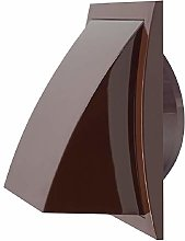 Ø 125mm/190x190mm Brown Plastic Cowled Hooded Air