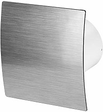125mm Standard Extractor Fan Silver ABS Front