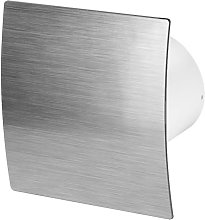 125mm Timer Extractor Fan Silver ABS Front Panel