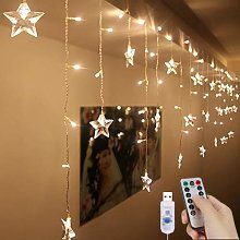 128LED Curtain Lights USB Starry Fairy Lights 3m *