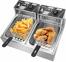 12L Deep Electric Fryer, Large Stainless Steel