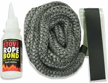 12mm x 2.5m PD Black Rope and 50ml Adhesive for