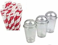 12oz 100pk High Quality Milkshake Smoothie Clear