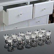 12pcs 30mm Diamond Shape Design Acrylic Knobs