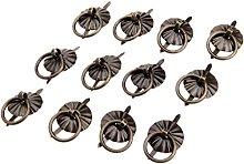 12pcs/4pcs Pull Handle 17mm Vintage Iron Ring