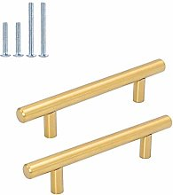 12pcs Goldenwarm Gold 76mm Drawer Handles -