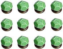 12PCS Green Diamond Shape Ceramic Pure Color