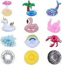 12pcs Inflatable Drink Holder,Reusable Inflatable