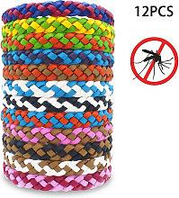 12Pcs Insect Repellent Bracelet PU Waterproof