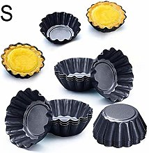 12pcs Nonstick Ripple Carbon Steel Egg Tart Mold
