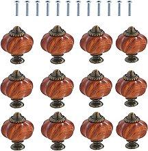 12PCS Pumpkin Single Hole Cabinet Knobs,Acrylic