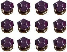 12PCS Purple Diamond Shape Ceramic Pure Color