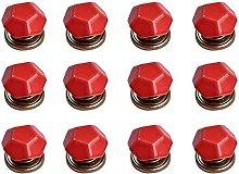 12PCS Red Diamond Shape Ceramic Pure Color