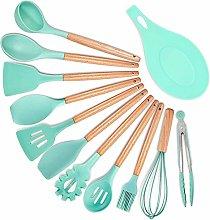 12PCS Silicone Kitchen Utensil Set Green, Nonstick