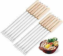 12Pcs Stainless Steel Chocolate Fork Hot Pot Forks