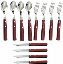 12Pcs Stainless Steel Forks Spoons Knives
