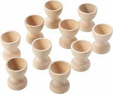 12pcs Wooden Egg Cup Holder Stands Diy Blank