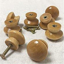 12Pcs Wooden Knob Drawer Pulls Cabinet Wardrobe