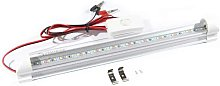 12V Integrated LED tube, 2ft, 6000K, Clear finish