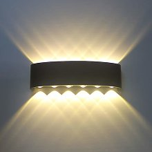 12W Modern Led Wall Light Black Up Down Indoor