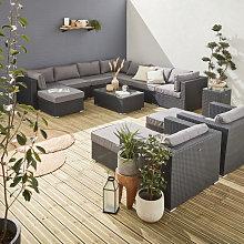 13-14 seater rattan garden furniture large sofa