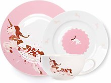 13.5 Ounce Coffee Cups and Saucers Set Porcelain