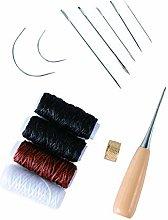 13 pcs Leather Craft Tool,Upholstery Repair kit,