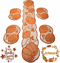 13 x 72in Fall Pumpkins Table Runner, Thanksgiving