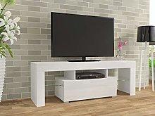 130cm Matt & High Gloss TV Stand Unit Cabinet