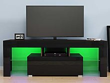 130cm Modern LED TV Unit Cabinet Stand High Gloss