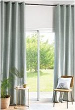 130x300cm single green curtain with eyelets