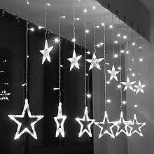 138 LED Curtain Lights,KINGCOO 2m 12 Stars Battery