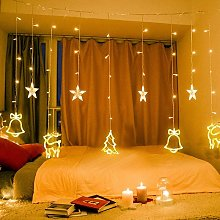 138 LED Light Curtain - Fairy Lights with Stars