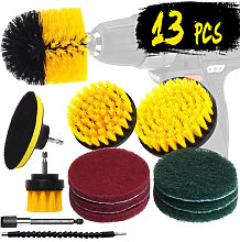 13Pcs Drill Brush Set Tub Cleaner Grout Power