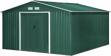 13x11ft Corrugated Steel Garden Storage Shed Tool