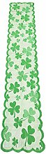 13x72Inches Clover Lace Table Runners for S t.