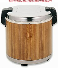 14.2 Litre 50 Cups Wood Grain Electric Food Rice