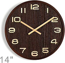 14'' Wooden Decorative Wall Clock with