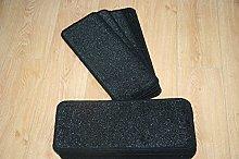 14 Black Glitter Stair Pads Carpet Stair Treads