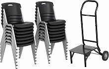 14 Pack Stacking Chair and 1 Dolly Combo - Lifetime
